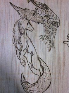 Pirogravado de un diseño de un tatoo,para otra de mis cajas de herramientas....
