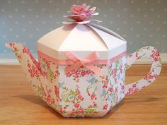 Origami for Everyone – From Beginner to Advanced – DIY Fan 3d Paper Crafts, Foam Crafts, Paper Gifts, Paper Art, Paper Toys, Teapot Crafts, Paper Tea Cups, Pretty Box, Teapots And Cups