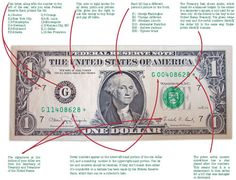 The dollar bill explained... my kids would think this is so cool!