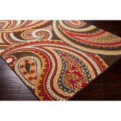 theydon brown & blue area rug | rugs, area rugs and brown