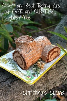 Tastes great even though it's gluten free! So easy to make this yule log, too!