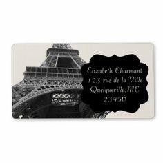 sold 5 sheets of Paris Eiffel Tower Vintage Bracket Custom Shipping Address Labels!
