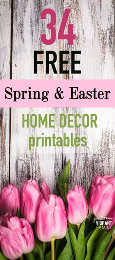 FREE SEASONAL DECOR! You'll love this collection of FREE SPRING PRINTABLES, all 8 x 10 so they can be framed as home decor!