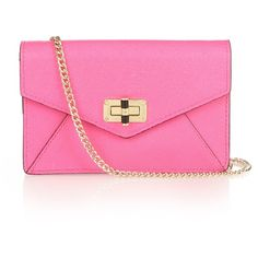 Diane Von Furstenberg 440 Gallery Bitsy cross-body bag ($58) ❤ liked on Polyvore featuring bags, handbags, shoulder bags, borse, сумки, leather cross body purse, pink shoulder bag, leather crossbody, pink crossbody purse and leather shoulder handbags