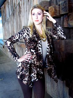 Leopard Cardigan Size S, M, L ~ $39.99 Brown Inner Suede Leggings Size S, M, L $15 #shopping #cardigans #leggings #leopard