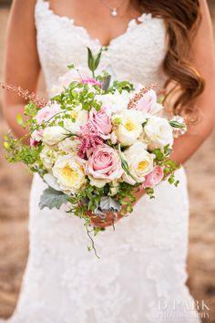 blush pink ivory green wildflower boho wedding bridal bouquet