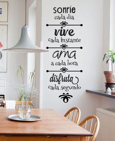 vinilos decorativos pared frases - personalizados y más!!