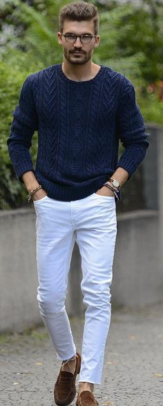 Men's Guide To Styling White Denim Outfits Correctly Big Men Fashion, Stylish Mens Fashion, Mens Fashion Blog, Latest Mens Fashion, Daily Fashion, Stylish Outfits, Fashion Ideas, Fashion Inspiration, Men's Fashion