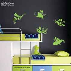 Wall decals FLYING INSECTS removable vinyl by decalsmurals on Etsy, $12.99