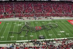 OSU Buckeyes break out into rocking some old classic tunes during their halftime show. From The Who to Van Halen, they had the crowds entertained.