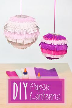 DIY Paper Lanterns. Create festive party decor using paper lanterns, crepe paper, and Elmer's X-TREME Glue. These simple decorations are perfect for the holidays, weddings, and other occasions!