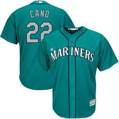 Robinson Cano Seattle Mariners Majestic Youth Official Cool Base Player Jersey - Northwest Green - $59.99
