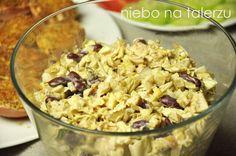 Sałatka z kurczakiem - niebo na talerzu New Years Party, Pasta Salad, Macaroni And Cheese, Oatmeal, Food And Drink, Breakfast, Ethnic Recipes, Diet, Crab Pasta Salad