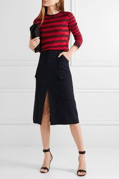 Jason Wu - Striped Silk Sweater - Red - medium