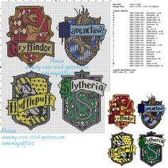 Schema punto croce le quattro case di Hogwarts 150x182 24 colori.jpg (3.8 MB) Mai osservato