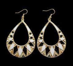 Black-White-Earrings
