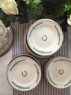 Vintage plates for Derby baby shower