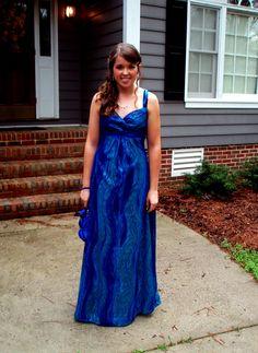 home-made prom dress <3