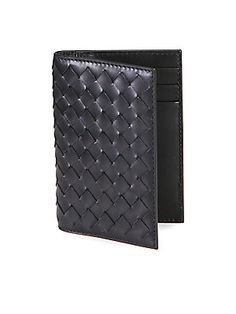 Bottega Veneta Intrecciato Card Case #Luxurygifts from men, #Saksfifthsavenue This small intrecciato case is a useful item to keep in one's purse and use to carry cards or notes. Made in Italy Beautiful Christmas gift for men