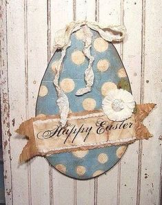 pretty paper Easter Egg An incredible handmade mixed media creation from Cari Kraft. hard to tell in the photo! Hoppy Easter, Easter Bunny, Easter Eggs, Easter Projects, Easter Crafts, Easter Decor, Easter Ideas, Spring Crafts, Holiday Crafts