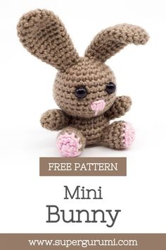 Crochet Rabbit Free Pattern, Easter Crochet Patterns, Crochet Amigurumi Free Patterns, Crochet Blanket Patterns, Crochet Dolls, Crochet Clothes, Crochet Gifts, Cute Crochet, Crochet Baby