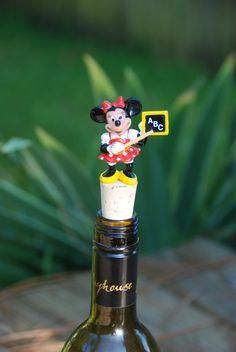 Minnie Mouse Wine Bottle Stopper Disney Teacher by GulfCoasters on Etsy