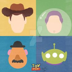 Toy Story - Minimalist Poster by raquelsegal on DeviantArt Toy Story Room, Toy Story Movie, Toy Story Theme, Toy Story Alien, Toy Story Party, Toy Story Birthday, Disney Canvas Art, Small Canvas Art, Mini Canvas Art