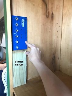 A DIY tutorial to build a tall cupboard with tons of concealed storage. An easy to build cabinet with moveable shelves and doors. Diy Kitchen Storage Cabinet, Wood Storage Cabinets, Cupboard Shelves, Built In Cabinets, Shelf, Quilt Storage, Bedroom Storage, Diy Furniture Building