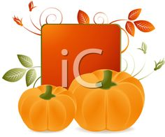 iCLIPART - Royalty Free Clipart Image of Pumpkins