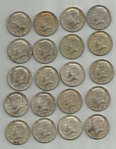 1966, 1967, 1968, and 1969 Kennedy Half Dollar 20 Coin Lot , Silver Coin,Old Coin,Vintage Coin, Collectible Coin,40 Percent Silver Coins by JonsTreasures on Etsy