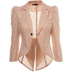 rose lace blazer