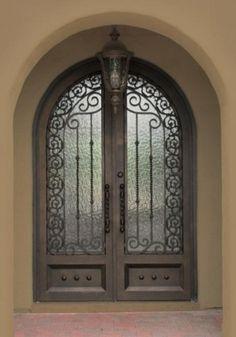 Mediterranean Arched Double Doors! Love!