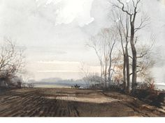 View Landscape in Kent by Rowland Hilder on artnet. Browse upcoming and past auction lots by Rowland Hilder. Watercolor Landscape Paintings, Watercolor Artists, Watercolour Painting, Landscape Art, Watercolours, Art Aquarelle, Great Paintings, Land Art, Illustration Art