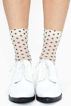 Nasty Gal - New & Vintage Clothing - cool spot ankle socks