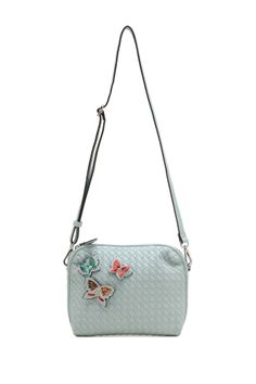 Butterfly Accented Crossbody Bag