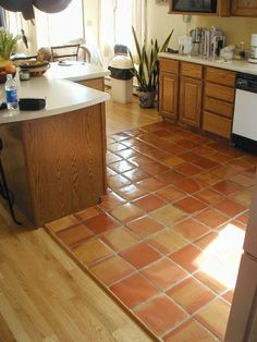 saltillo+tile+kitchen | saltillo kitchen floor tile - kitchen -