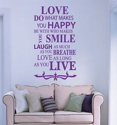 a amor inspiracional decoracion pared frases vinilo pegatina para pared adhesivo