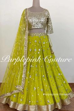 Latest Lehnga Designs, Lehenga Designs Simple, Lehenga Choli Designs, Sharara Designs, Half Saree Designs, Shadi Dresses, Indian Gowns Dresses, Indian Fashion Dresses, Indian Designer Outfits