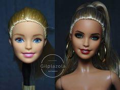 Barbie Hair, Barbie And Ken, Barbie Clothes, Custom Barbie, Custom Dolls, Doll Repaint Tutorial, Realistic Barbie, Afro, Monster High Dolls