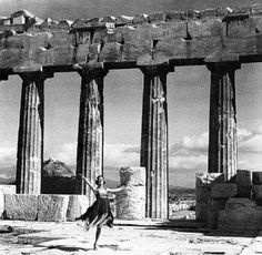 Mona Paiva at the Acropolis. Athens Photograph by Nelly Old Photos, Vintage Photos, Elgin Marbles, Parthenon Athens, Classical Greece, Famous Dancers, Greek History, Historical Architecture, Athens Greece