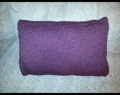 Garter stitch pillow for my Mom