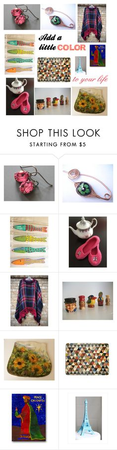 """""""Add a Little Color to Your Life"""" by penandhook ❤ liked on Polyvore"""