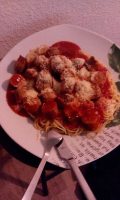 Currywurst Spezial with Spaghetti