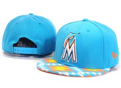 MLB Florida Marlins Snapback Hat (4) , wholesale for sale  $5.9 - www.hatsmalls.com