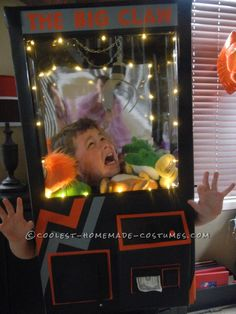Awesome Homemade Claw Machine Costume... This website is the Pinterest of costumes