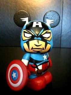 cute custom vinylmation of captain america