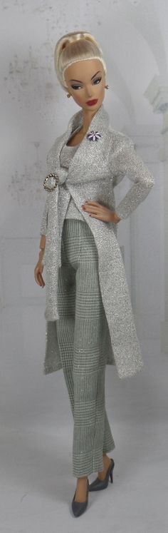 Silver Dusted by MatisseFashions. This ensemble uses the knit Halter Top and the Tied Cardigan PDF Patterns.