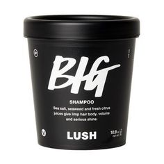 Over half the base of Big shampoo is made with sea salt to help give massive volume to hair in need of a boost. Sea salt is also full of minerals and de-greases hair, removing dead skin cells and dirt without stripping natural oils for a fresh, squeaky clean feeling. We balance the sea salt with seaweed infusion and extra virgin coconut oil for soft, nourished locks. Finally, fresh citrus juices are squeezed in for incredible shine. It's no wonder this one's a best-seller!