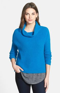 Eileen Fisher Yak & Merino Cowl Neck Sweater (Regular & Petite) available at #Nordstrom