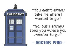 Doctor Who Tardis Cross Stitch w/quote | Craftsy